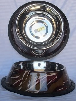 Cammo Non-Slip Bowl with Rubber Trim on Base 32 oz (B.D8/PR/BOWL)