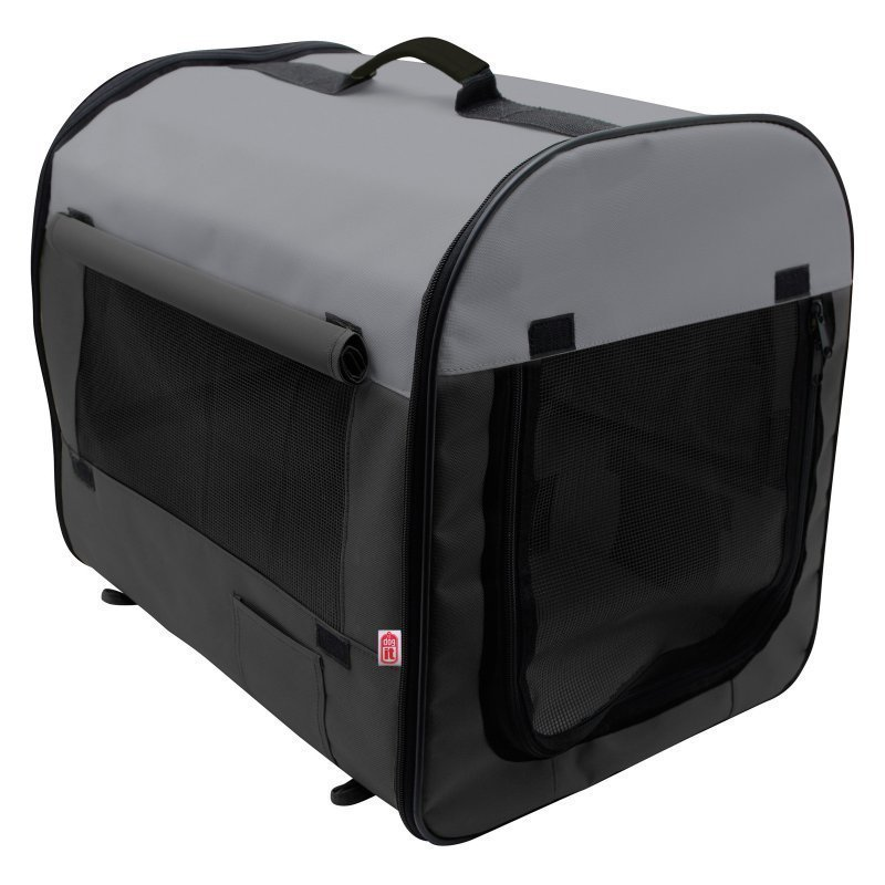 Soft-Sided Nylon Dog Home Medium 24 x 22 x 31 L *Includes Carrying Case  Packs Flat Perfect for the Car  (B.W2/AM2)