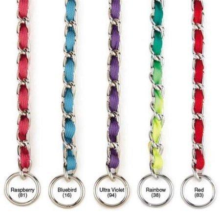 """Nylon Webbing Fashion Choke Chain 14"""" X 2.5mm Rainbow (RPAL137/AM4)"""