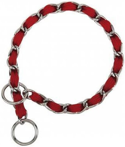 "Nylon Webbing Fashion Choke Chain 16"" X 2.5mm Red (RPAL137/AM3)"