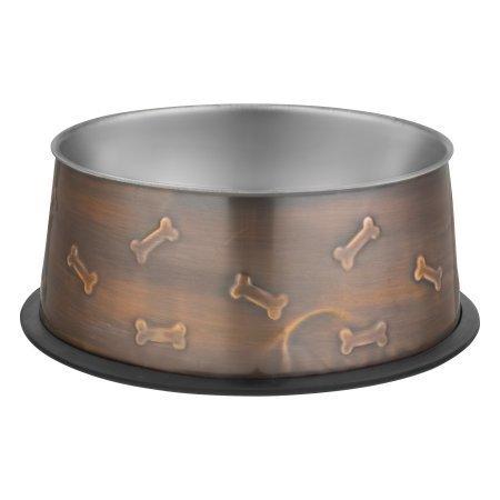 Loving Pets Artistic Antique Copper Dog Bowl, Large (48 oz.) (B.D7/AM12)
