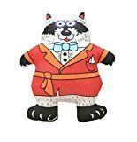 """Petstages Madcap Well Dressed Raccoon Squeaker Toy 5"""" (B.A17/AM27)"""