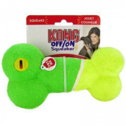 Kong Off/On Squeaker - Bone: Large - Squeaky Dog Toys - Assorted Colors