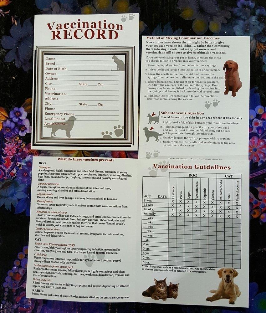 Vaccination Record Pamphlet (O.U2/PR)