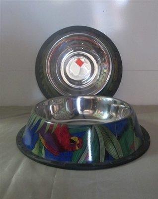 Rainforest Painted Bowls Non-Tip Bowl with Rubber Trim Base 32 Oz (B.D8/PR/BOWL)
