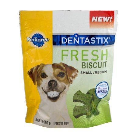 Pedigree Dentastix Fresh Biscuit, Small/Medium, 1 lb (12/18) (T.E12/DT)