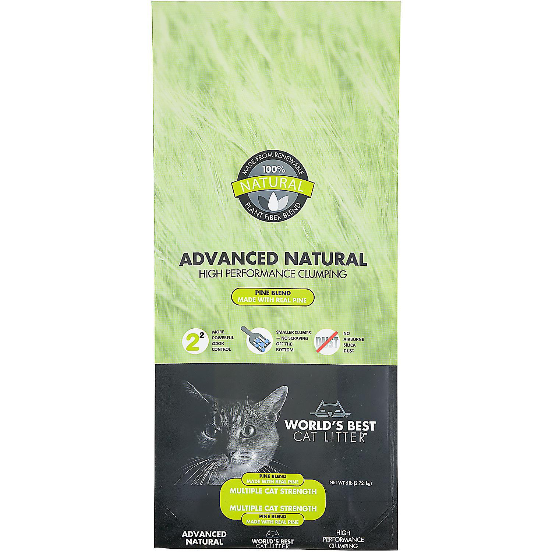 World's Best Cat Litter Advanced Natural High Performance Clumping Pine Blend, 6 lbs (A.Q5)