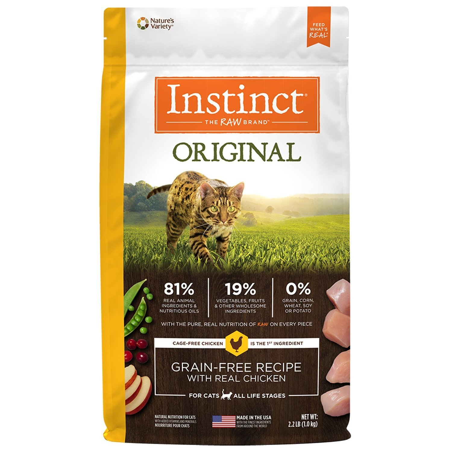 Nature's Variety Instinct Grain-Free Chicken Meal Cat Food, 2.2 lbs. (3/19) (A.J2)