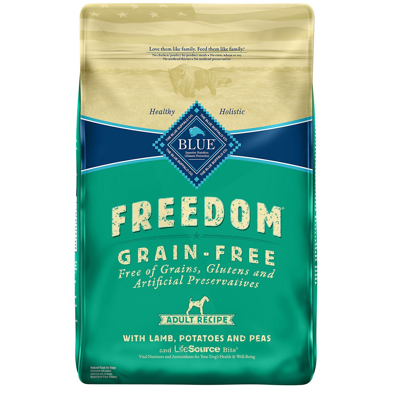 Blue Buffalo Freedom Grain Free Lamb Recipe Adult Dog Food, 4 lbs.