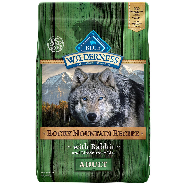 Blue Buffalo Wilderness Rocky Mountain Recipe Rabbit Adult Dog Food, 22 lbs.
