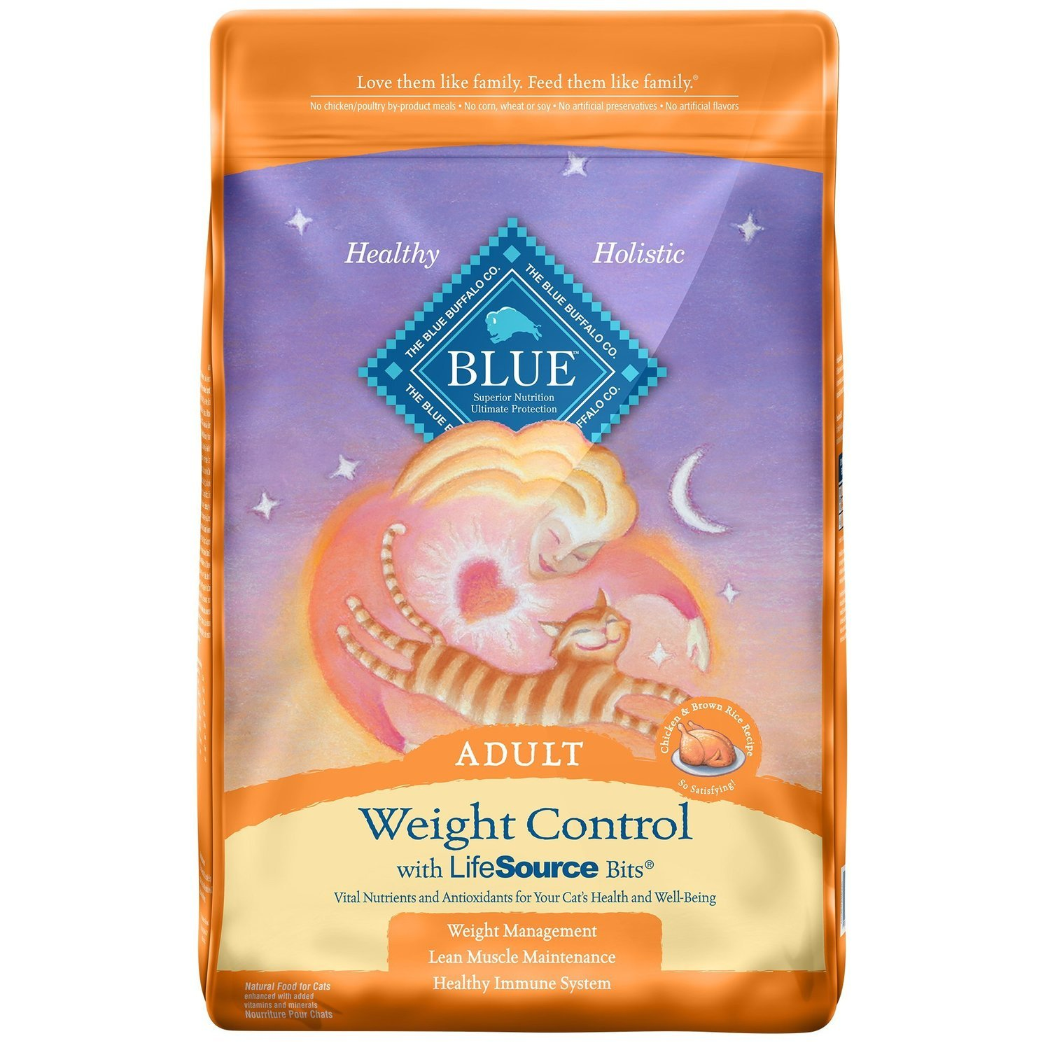 Blue Buffalo Weight Control Chicken & Brown Rice Adult Cat Food, 15 lbs.