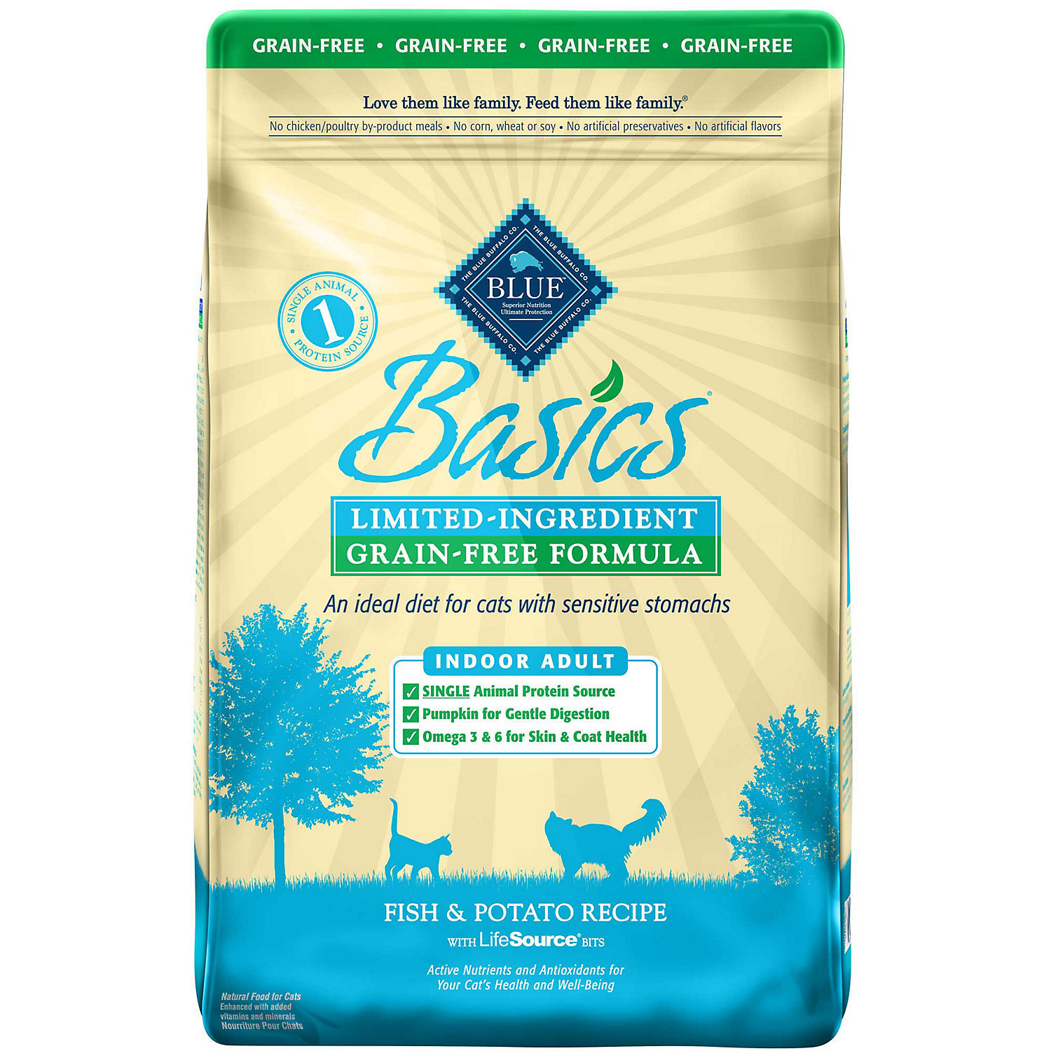 Blue Buffalo Basics Fish Adult Indoor Recipe-grain Free Dry Cat Food, 5 Lb Bag