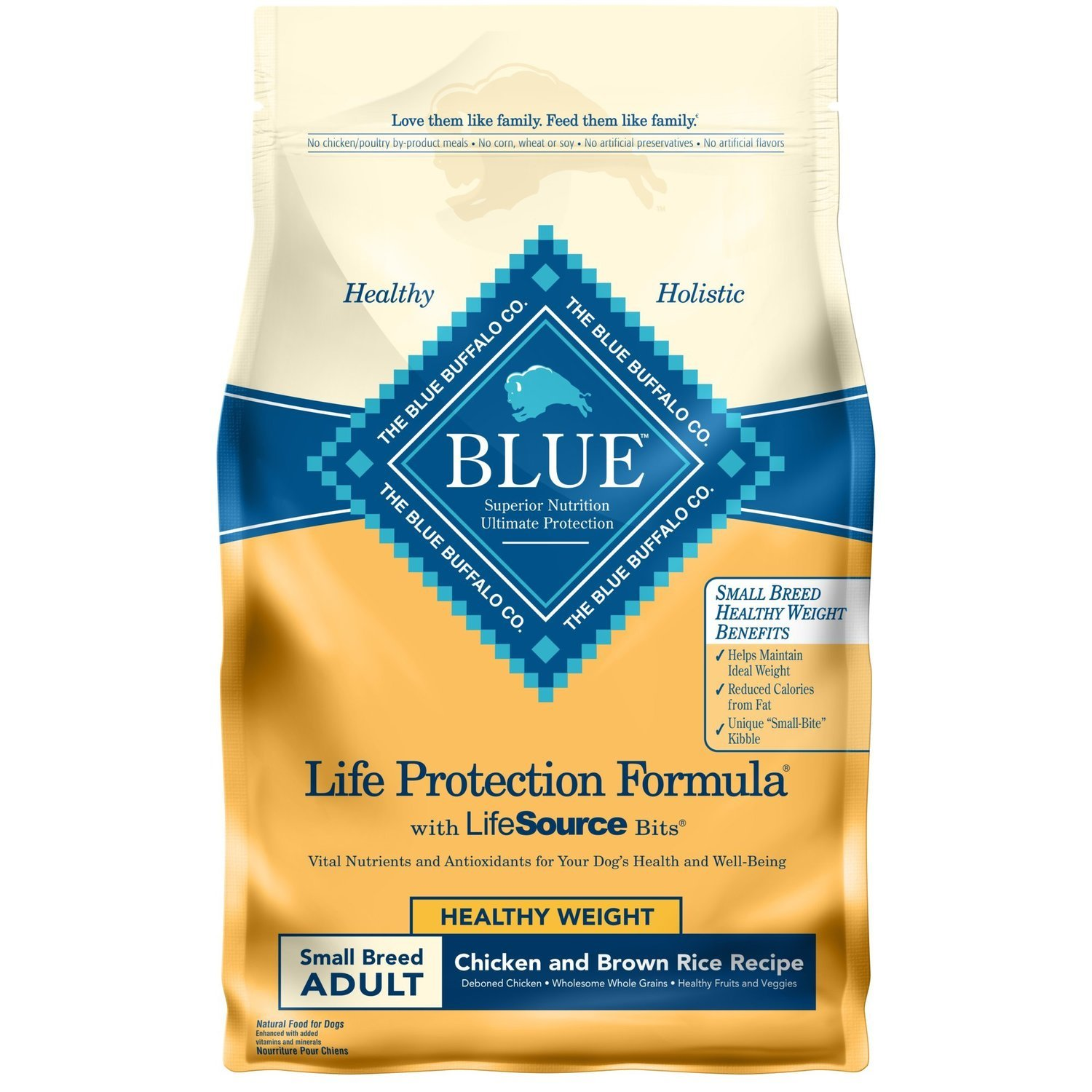 Blue Buffalo Blue Adult Small Breed Healthy Weight Chicken & Brown Rice 6 Lb