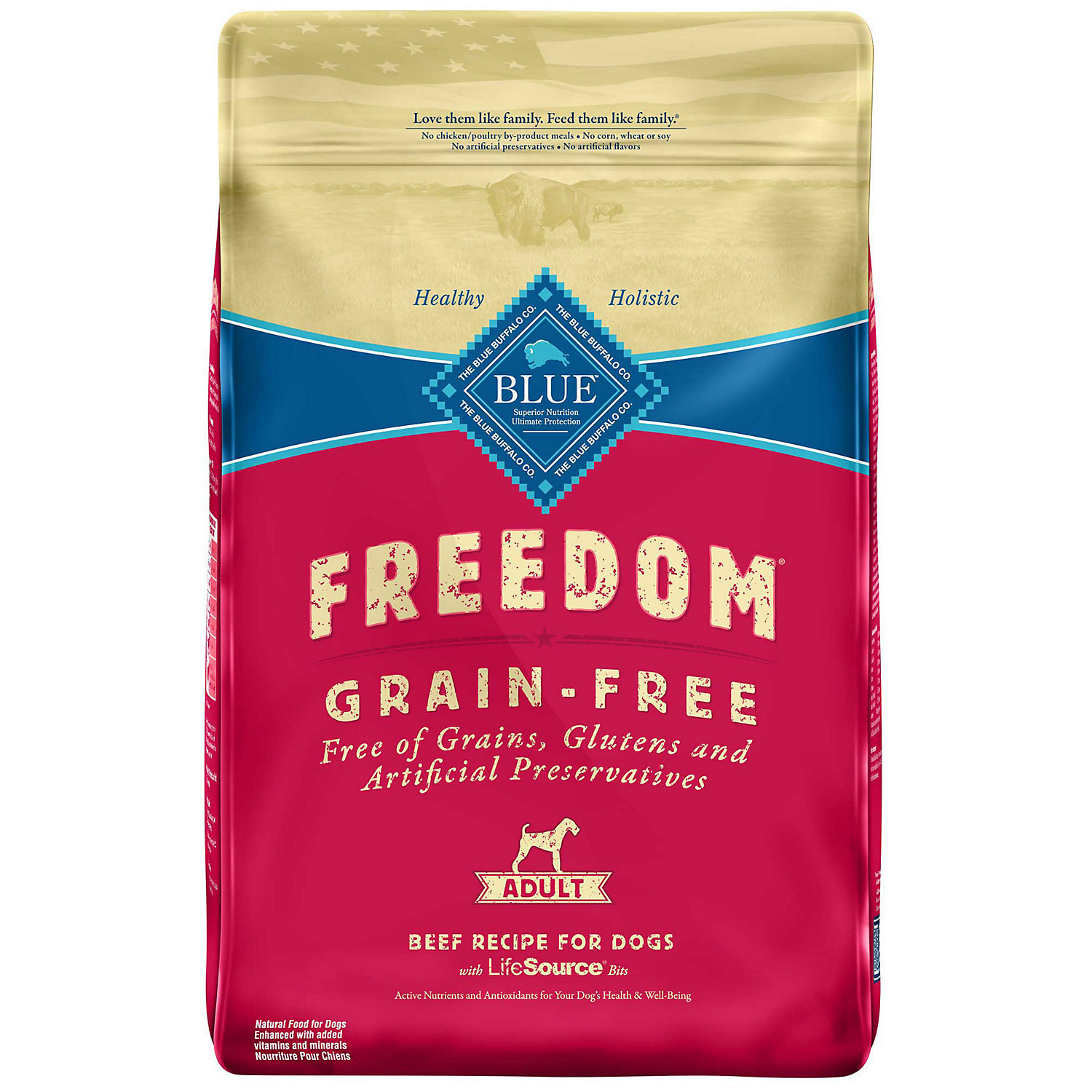 Blue Buffalo Freedom Grain-Free Adult Beef Recipe Dry Dog Food 11-lb