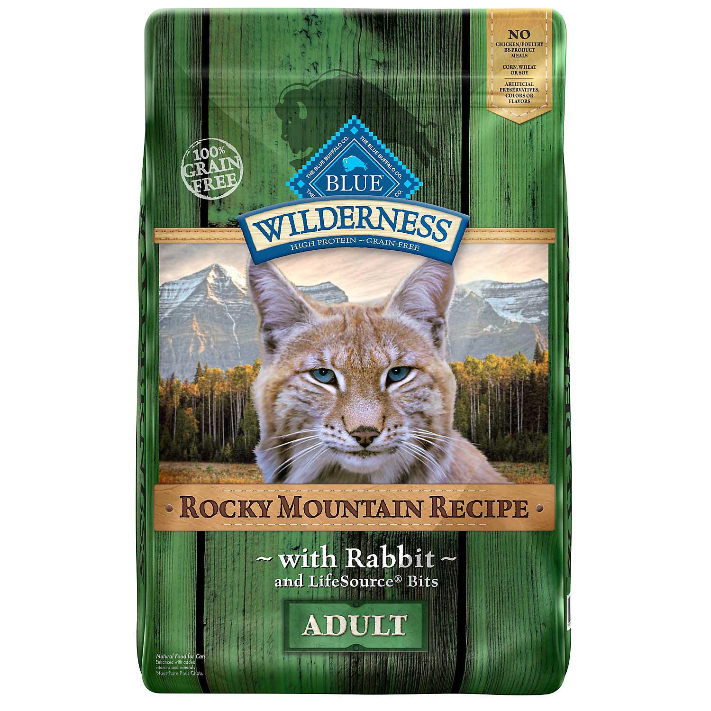 Blue Buffalo Wilderness Grain Free Rocky Mountain Rabbit Adult Cat Food, 4 lbs. (4/20)