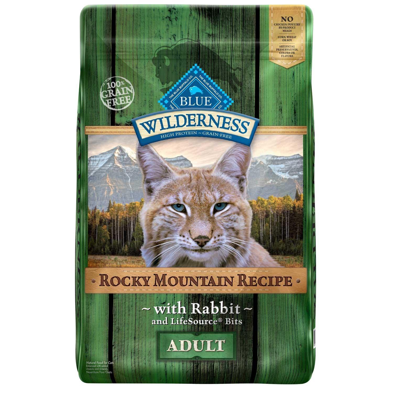 Blue Buffalo Wilderness Grain Free Rocky Mountain Rabbit Adult Cat Food, 10 lbs.