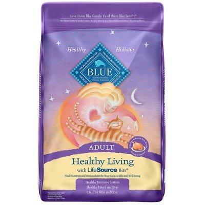 Blue Buffalo Healthy Living Chicken & Brown Rice Adult Cat Food, 3 lbs. (12/19) (A.O7)