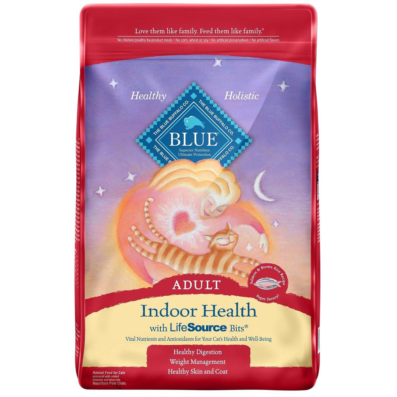 Blue Buffalo Indoor Health Salmon & Rice Adult Dry Cat Food, 15 lbs.