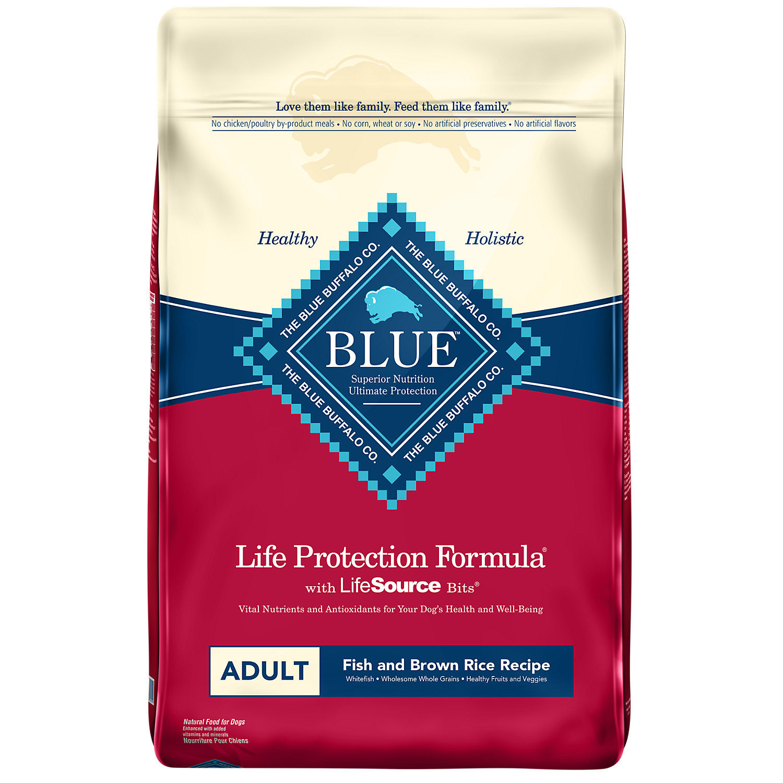 Blue Buffalo Life Protection Fish & Sw Potato Adult Dry Dog Food 30 Lb.