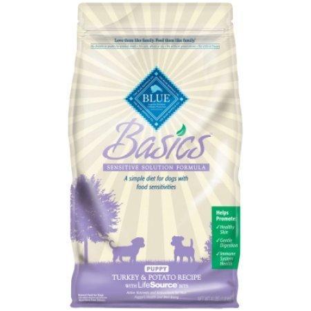 Blue Buffalo basics Limited ingredient formula for puppies turkey and potato recipe 11 pounds