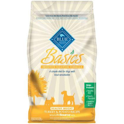 Blue Buffalo Basics Healthy Weight Turkey & Potato Adult Dry Dog Food, 4 lbs.