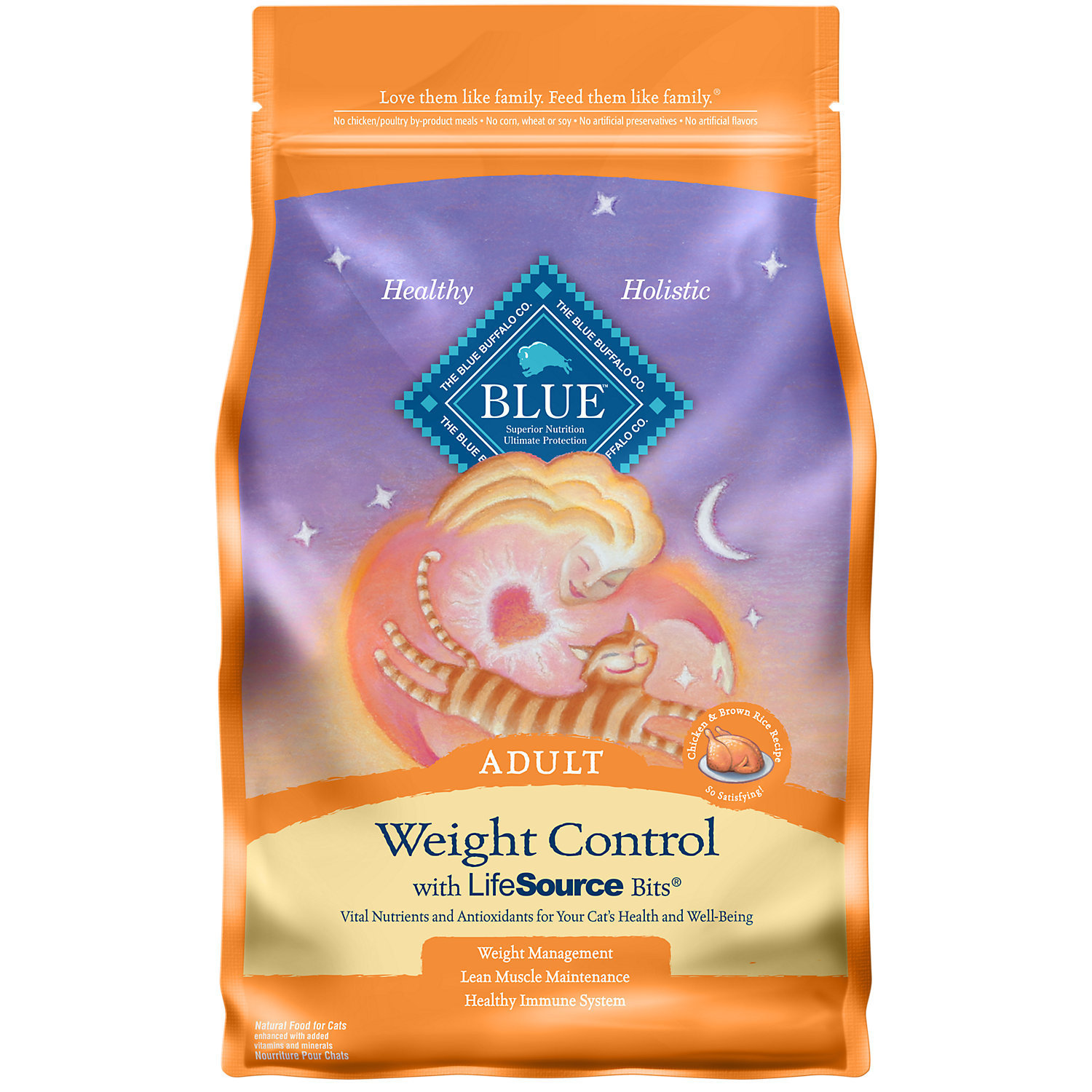 Blue Buffalo Weight Control Chicken & Brown Rice Adult Cat Food, 7 lbs.