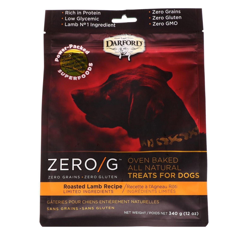 Darford Zero/g Oven-Baked All Natural Dog Treats Roasted Lamb 12oz (2/19) (T.F2)
