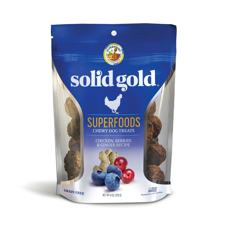 5 FUR $1.00 Solid Gold Grain Free Chicken, Berries & Ginger Natural Dog Treats, 6 oz. (2/19)  **Buy 1 Get 5, Buy 2 Get 10, Buy 3 Get 15 etc. etc.**