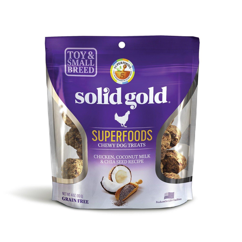 10 FUR $1.00 Solid Gold Grain Free Chicken, Coconut Milk & Chia Seed Small & Toy Breed Treats 4 oz. (2/19)  **Buy 1 Get 5, Buy 2 Get 10, Buy 3 Get 15 etc. etc.**