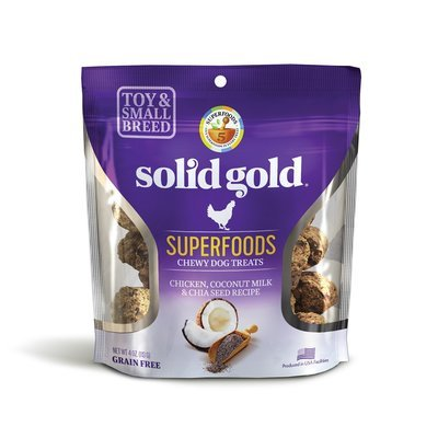 10 FUR $1.00 Solid Gold Grain Free Chicken, Coconut Milk & Chia Seed Small & Toy Breed Treats 4 oz. (2/19)  **Buy 1 Get 5, Buy 2 Get 10, Buy 3 Get 15 etc. etc.**