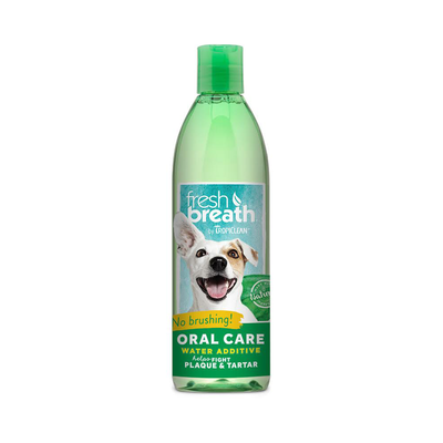 TropiClean Fresh Breath Oral Care Water Additive for Dogs, 16 oz. (O.A1/N5/O5/P5/Q5)