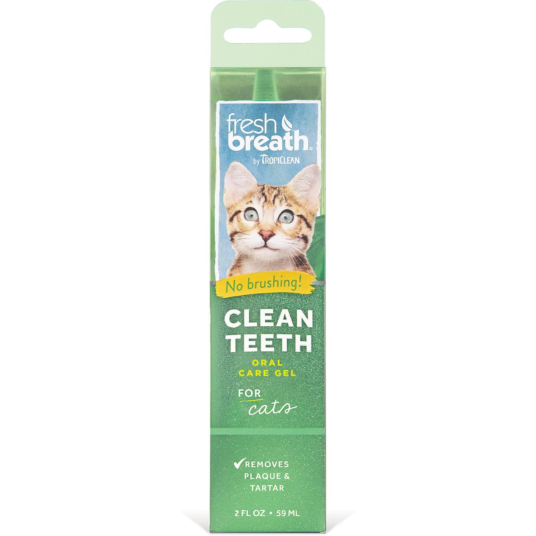 TropiClean Fresh Breath Clean Teeth Gel for Cats, 2 fl. oz. (O.A1/PR)