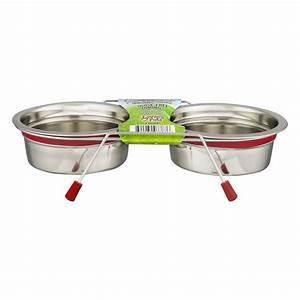 Loving Pets Silent Double Diner Bowl - 1 PINT - RED (B.D3/PR/AM11/BOWL)