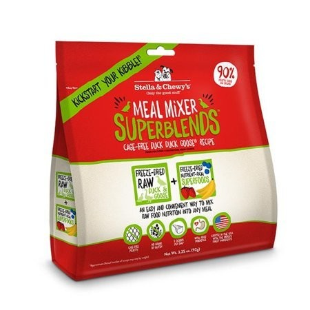 Stella & Chewys Freeze Dried Superblends Meal Mixer Duck 3.25 oz (1/19) (A.M3)