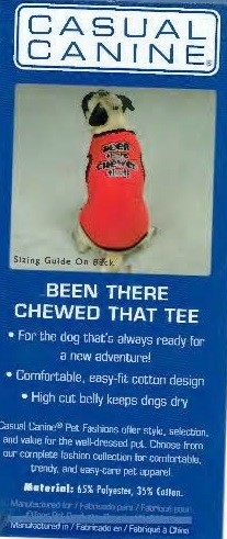 Been There Chewed That Tee - SMALL/MEDIUM (B.73) (APPAREL)