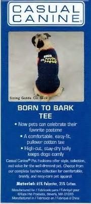Born to Bark Tee - SMALL/MEDIUM (B.73) (APPAREL)