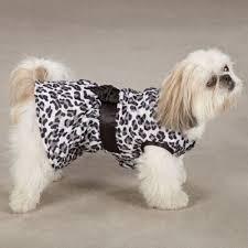 Snow Leopard Plush Ruffled Dress - XS (B.125) (APPAREL)