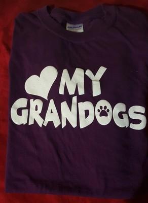 My Grandogs T-Shirt - MEDIUM - BLACK  (B.127)