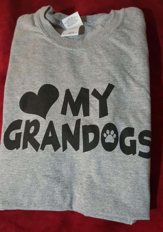 My Grandogs T-Shirt - SMALL - GREY  (B.127)