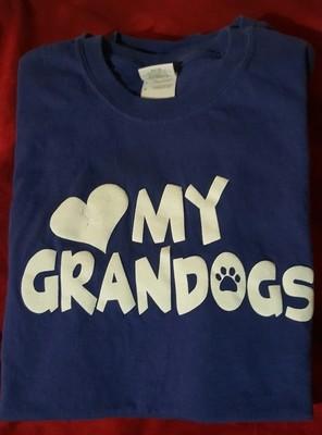 My Grandogs T-Shirt - SMALL - ROYAL BLUE  (B.127)