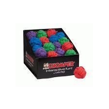 BLUE - Chomper Tuff Woven Ball Toy - BLUE - (B.A12)