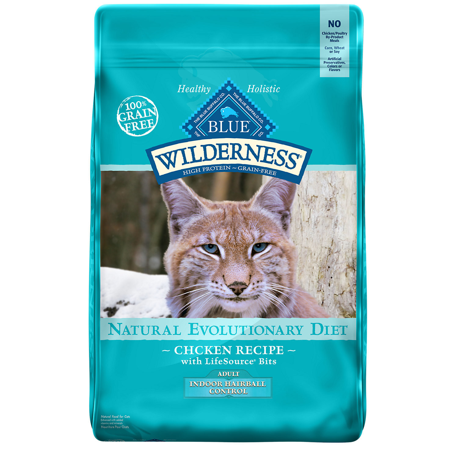 Blue Buffalo Wilderness High Protein Grain Free, Natural Adult Indoor Control Dry Cat 5 lbs