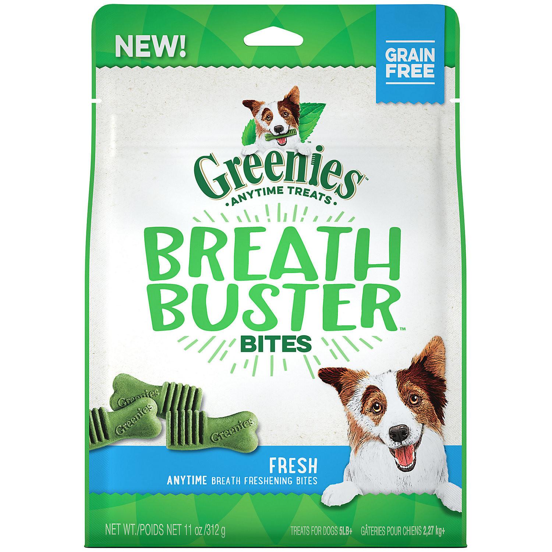 GREENIES BREATH BUSTER Bites Fresh Flavor Treats for Dogs, 11 oz.  (3/19) (T.SINGLES)