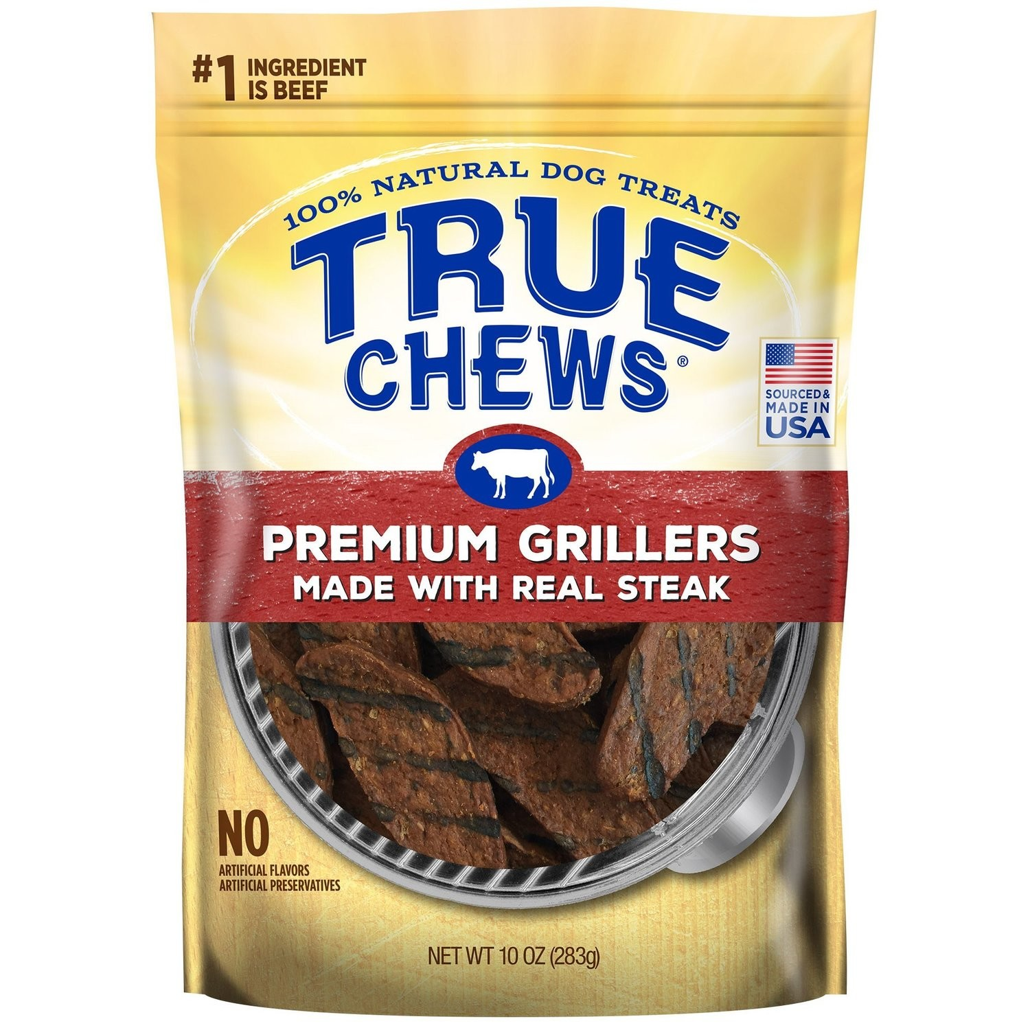 True Chews Premium Grillers Made with Real Steak Natural Dog Treats, 10 oz. (5/19) (T.G2)