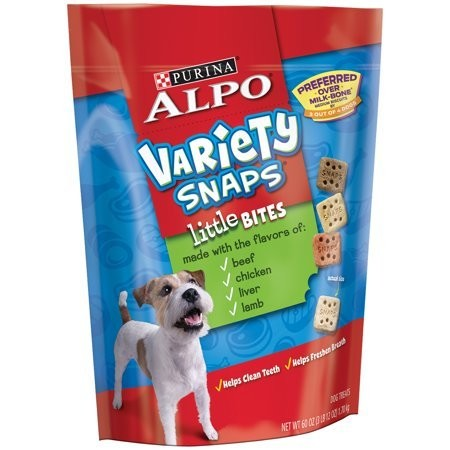 Variety Snaps Little Bites with Real Beef Chicken Liver & Lamb Flavors Dog Treat 60 oz (7/19) (A.R3)