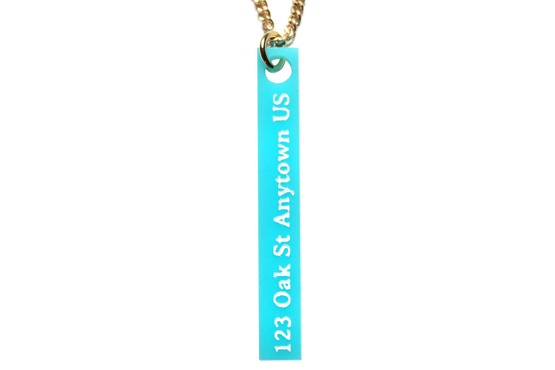 Address Vertical Bar Necklace