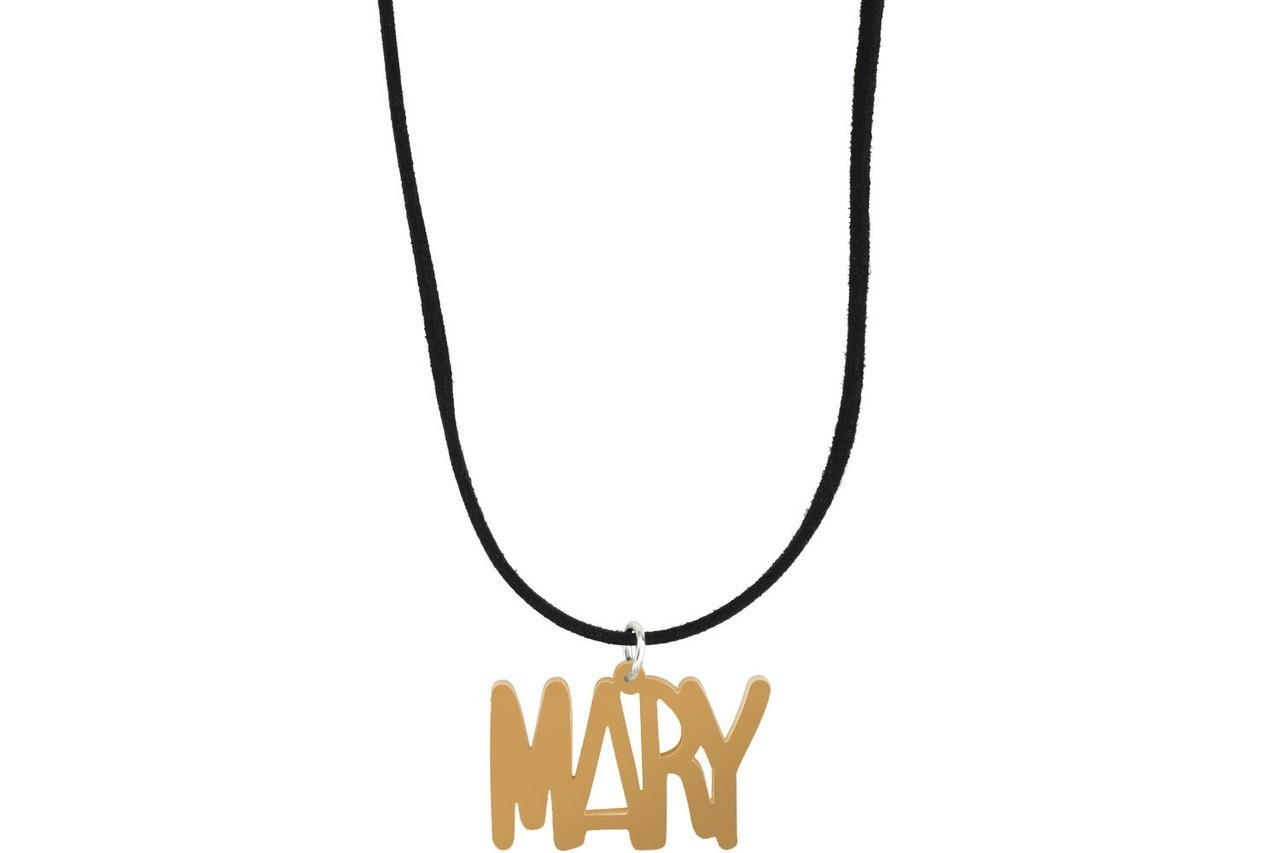 Name Style 1 with Suede Leather Cord Necklace