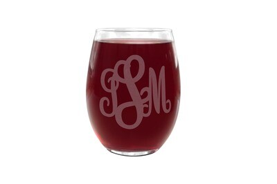 Monogram PLASTIC Stemless Wine Glass