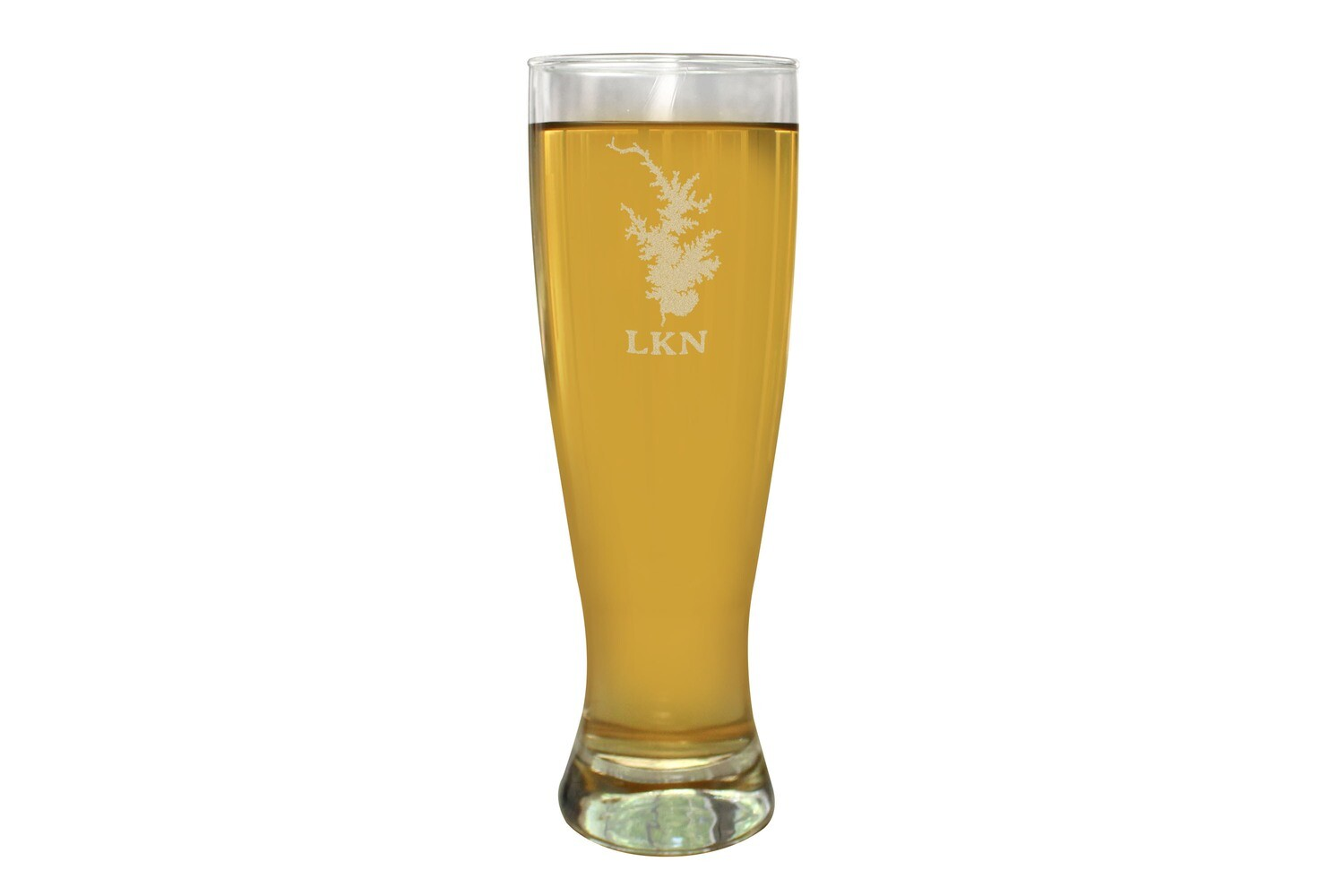 Body of Water w/Location Name Custom Pilsner Beer Glass 16 oz