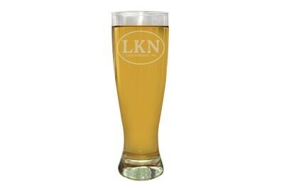 Custom Initials or Airport Code Custom Pilsner Beer Glass 16 oz